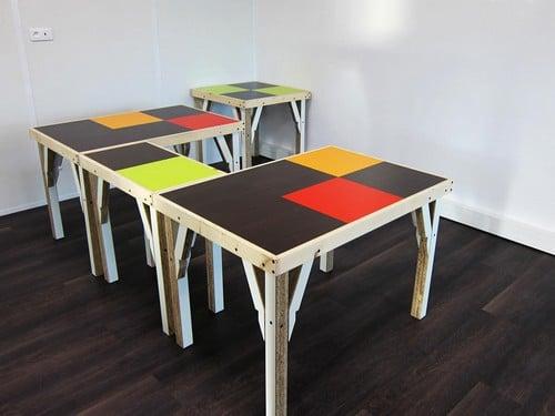 atelier tac tables réemploi matériaux